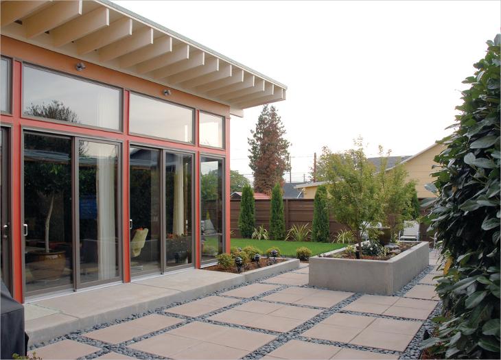 river rock patio design