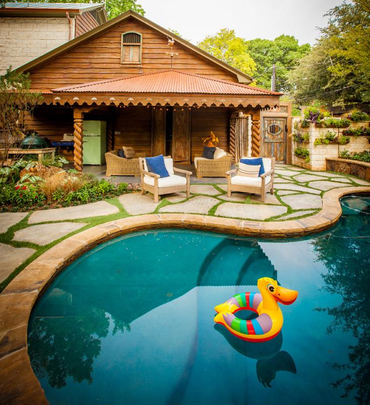 pool patio flooring design