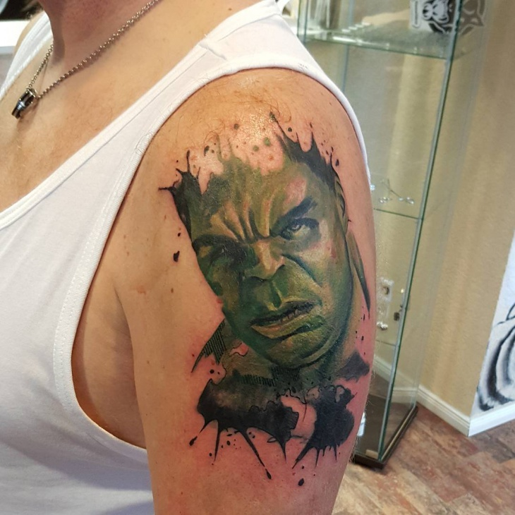 Hulk Tattoo on Sleeve