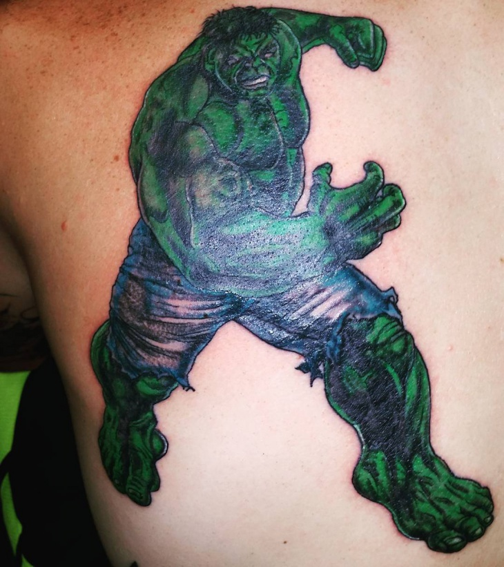 3d hulk tattoo design