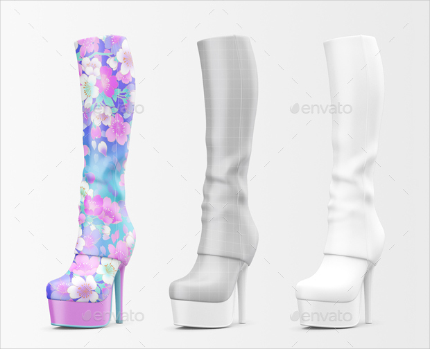 Woman Shoes Mockup