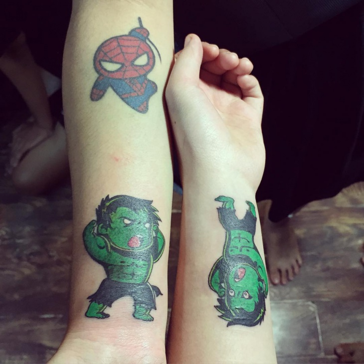 Small Hulk Tattoo on Wrist