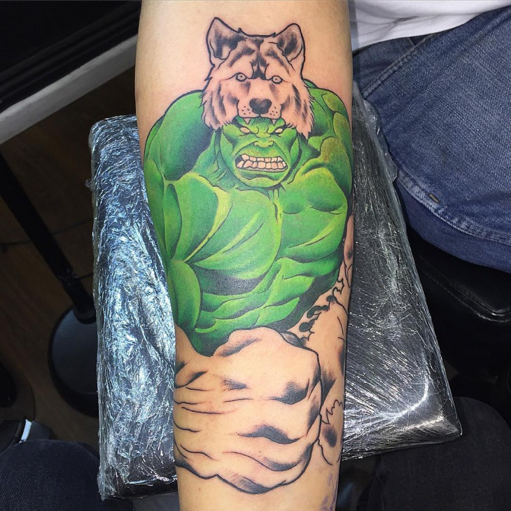 lion hulk tattoo idea