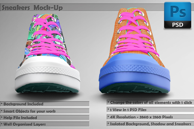 Colorful Shoes Mockup Template