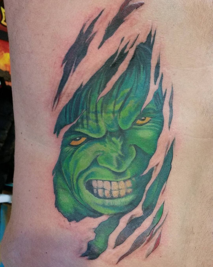 Scary Hulk Tattoo Design