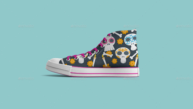 Sneakers colorful Shoes Mock-up