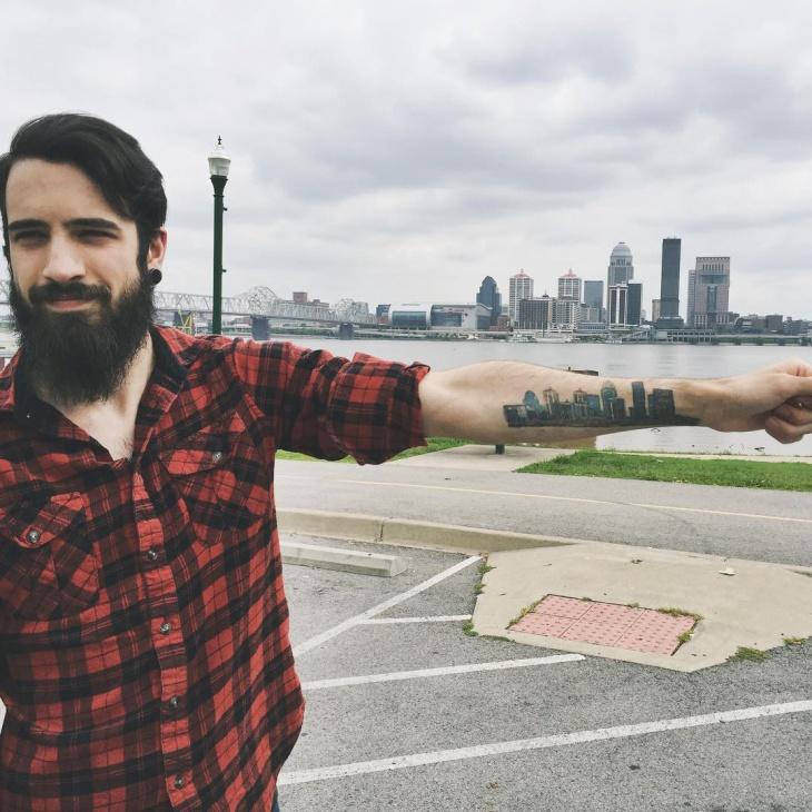 City Skyline Tattoo Idea