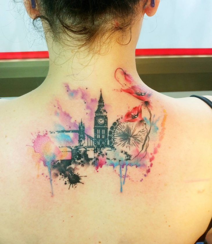 Love name tattoo designs - 20 Skyline Tattoo Designs Ideas Design Trends