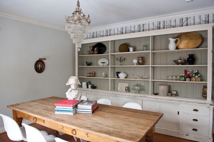 Vintage Dining Room Shelves Idea