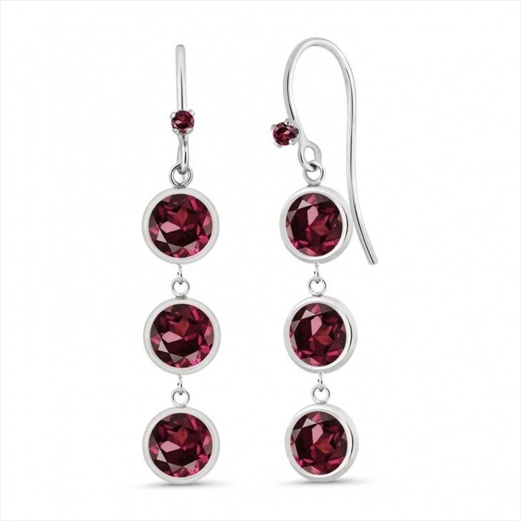 rhodolite garnet earrings