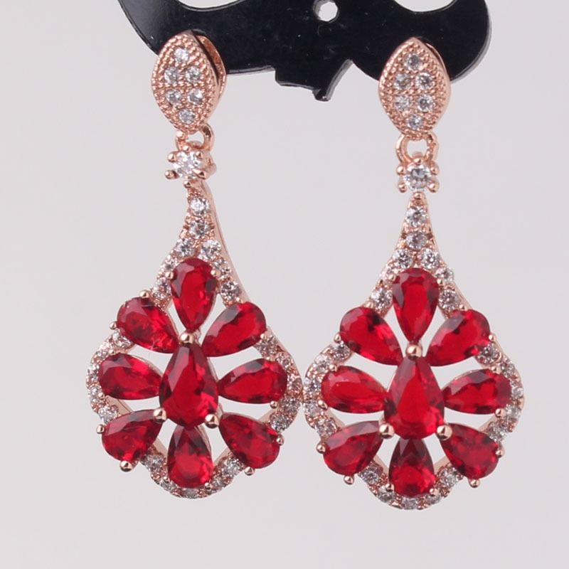 Red Diamond Chandelier Earrings: 17+ Garnet Earring Designs, Ideas, Models