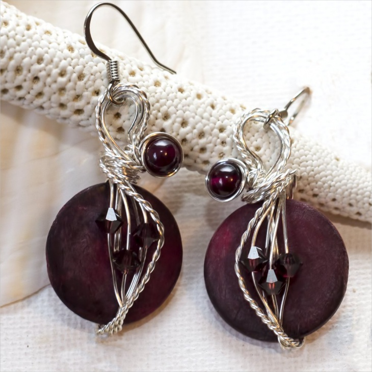 Garnet Bead Earrings