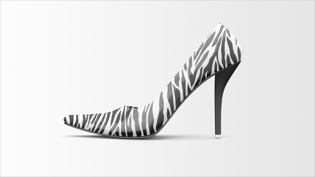 Zebra Pattern High Heels Mock-up