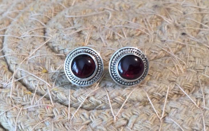 cute garnet earrings