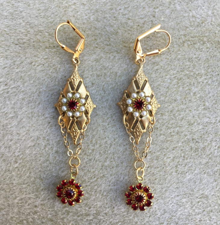 Garnet Wedding Earrings