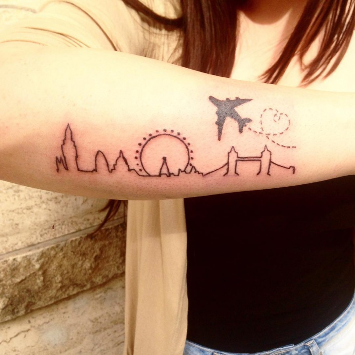 Awesome Skyline Tattoo for Girl