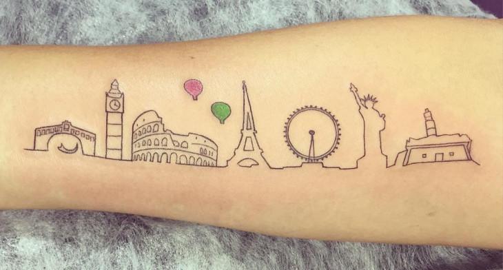 Tattoo Design Bild: 20+ Skyline Tattoo Designs, Ideas