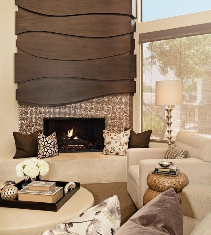 corner fireplace tiles design