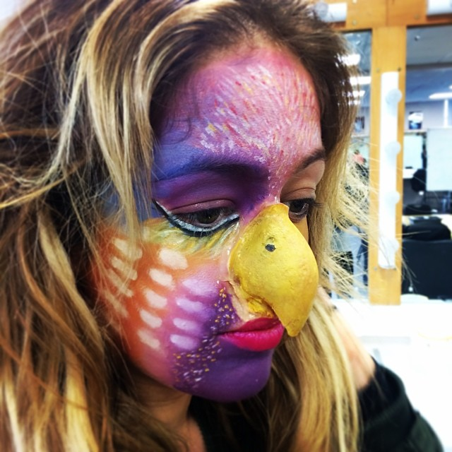 Purple Parrot Makeup