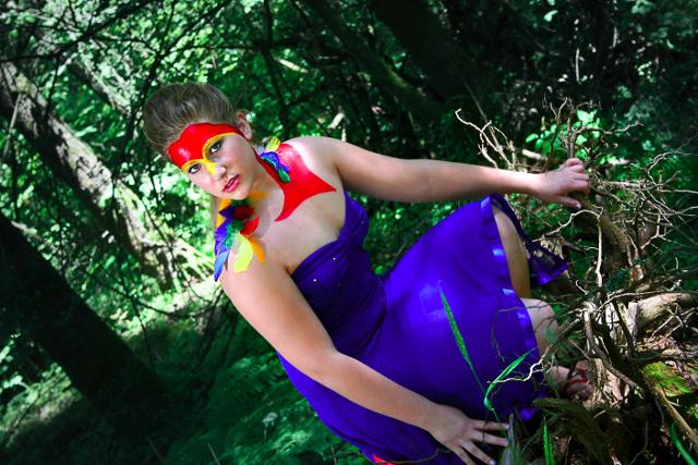 Parrot Costume Makeup