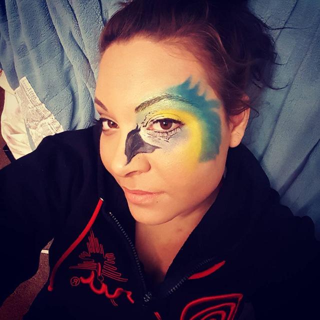 Parrot Half Face Makeup