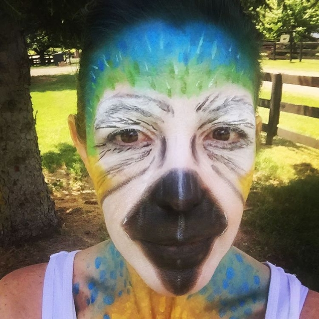 Parrot Face Makeup Idea