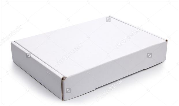 closed blank carton pizza box mockup