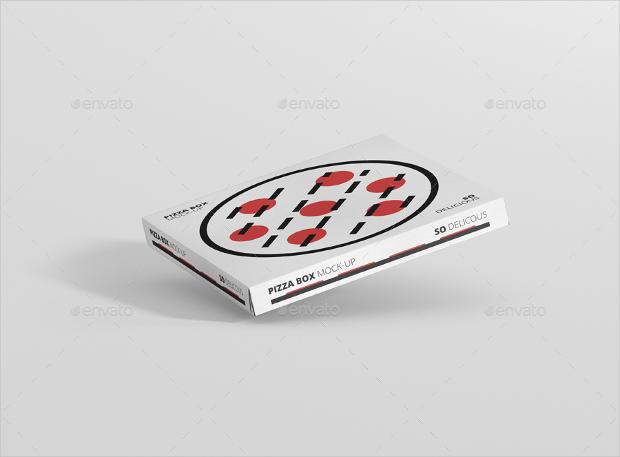 square pizza box mockup psd
