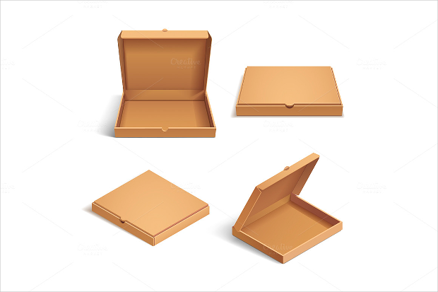 cardboard pizza box mockup
