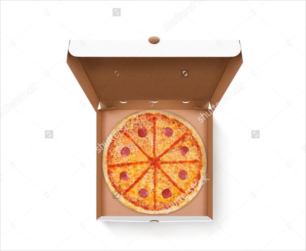 opened pizza box mockup design