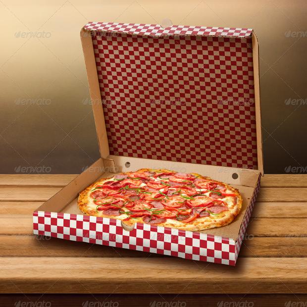 colorful pizza box mockup photoshop