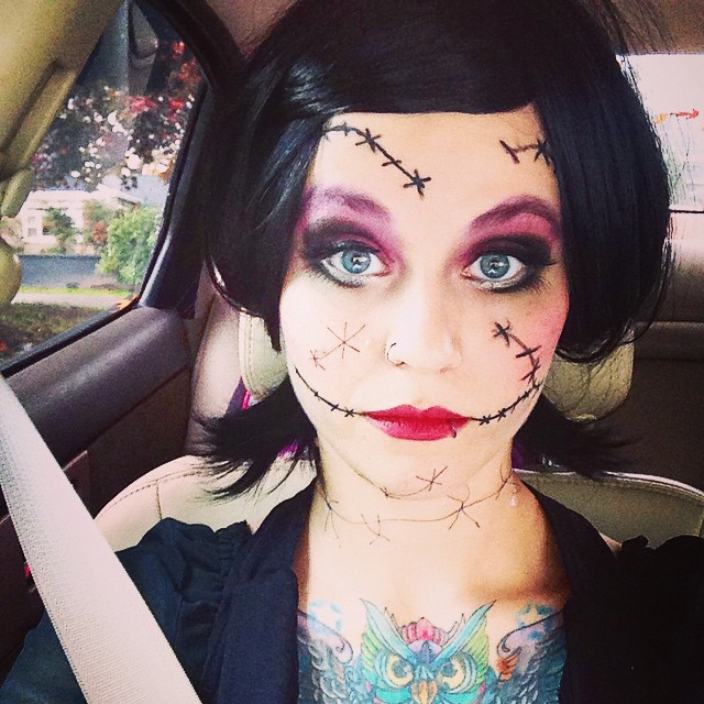 scary rag doll makeup