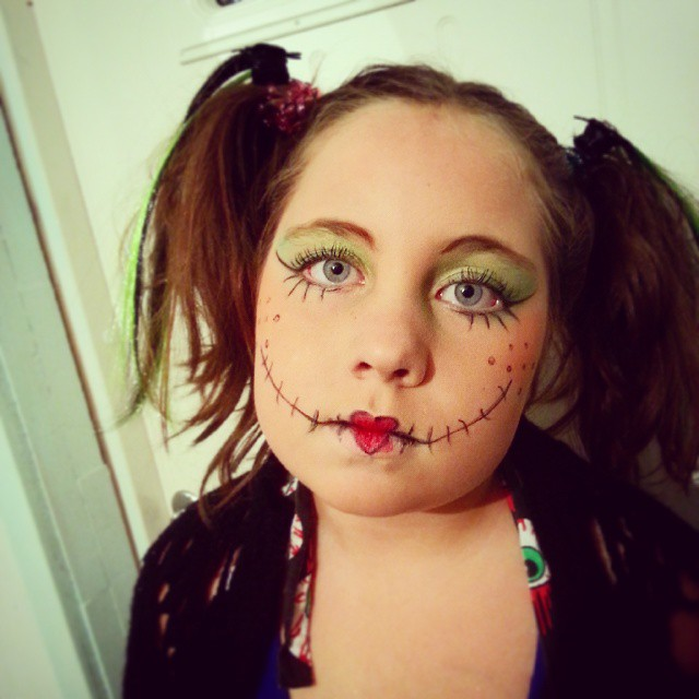 cute rag doll makeup design