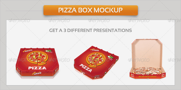 Pizza Box Package Mockup