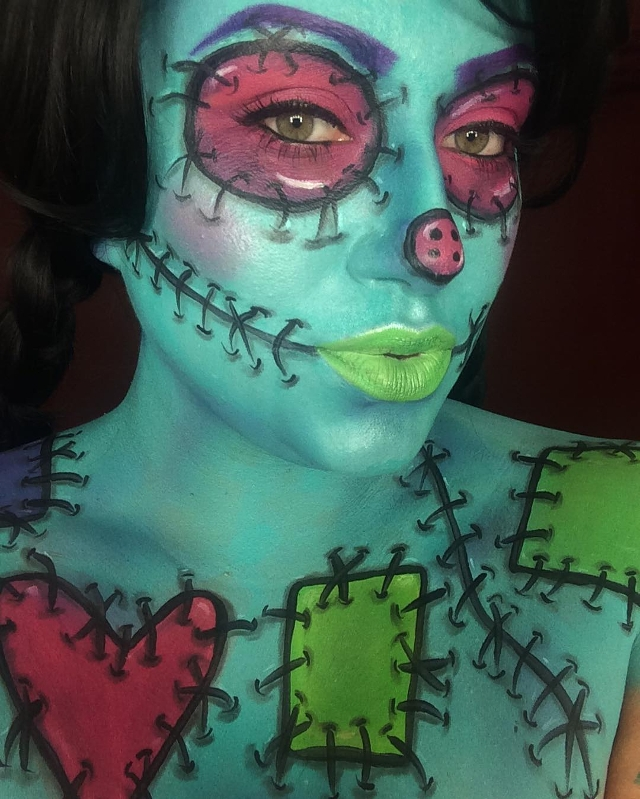 rag doll paint makeup idea