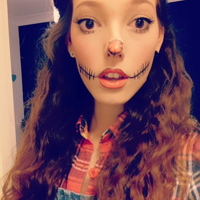 simple rag doll makeup
