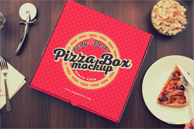 yummy pizza box mockups