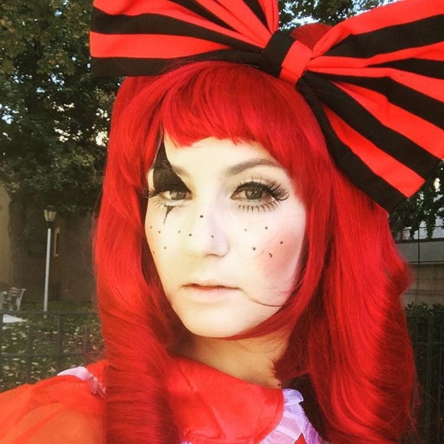 Rag Doll Red Makeup