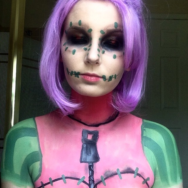 rag doll body makeup idea