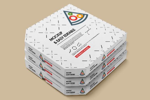 elegant pizza box mockup