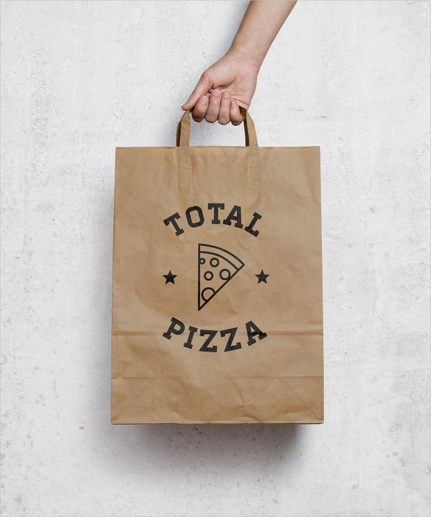 total pizza takeaway box mockup
