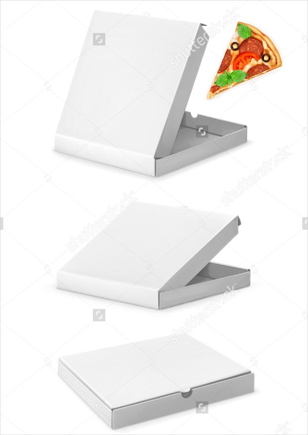 pizza box package vectors mockup