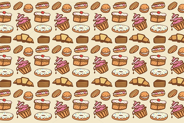 cupcakes photoshop seamless pattern
