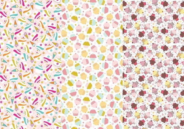 cupcakes and cones photoshop patterns