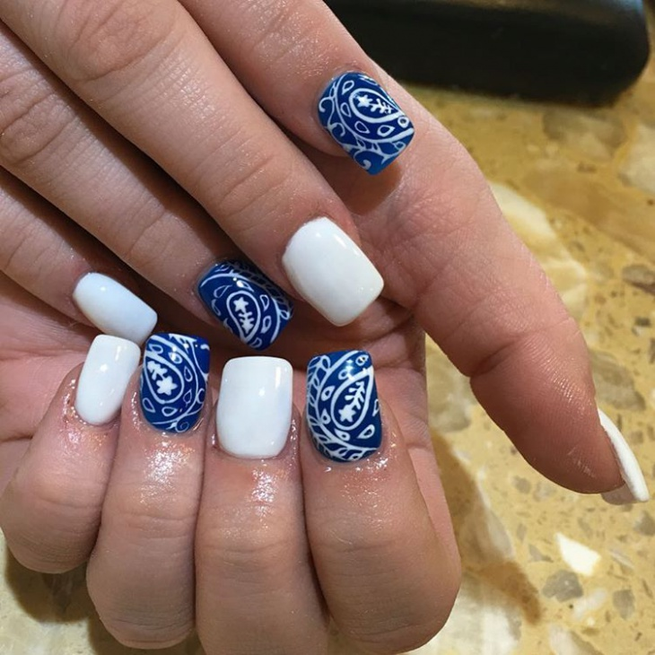 Bandana Print Nails | Best Nail Designs 2018