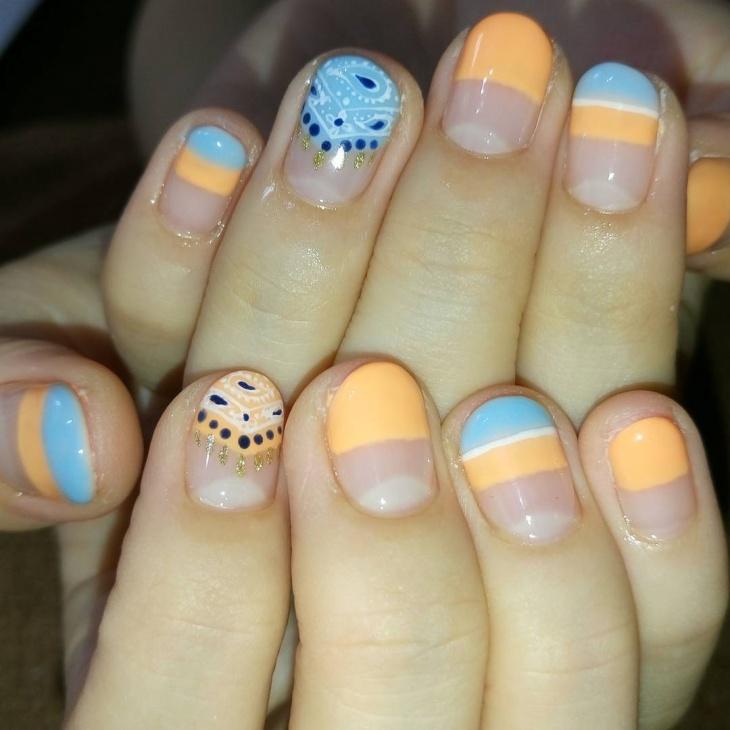 Bandana Nail Tip Design Idea