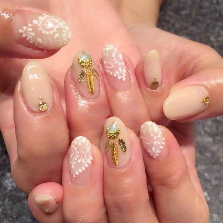fancy bandana nail design