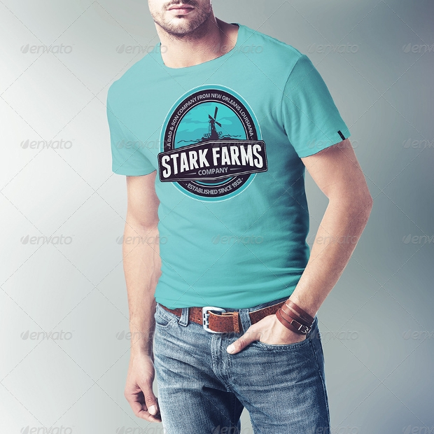 men t shirt mockup design
