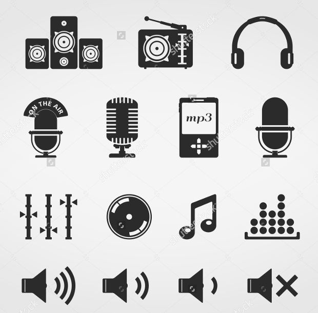 sound vector icons