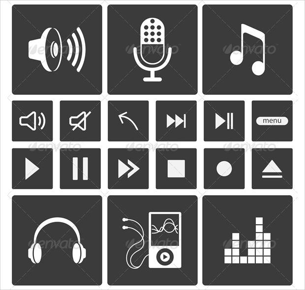 Flat Sound Icons